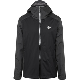 Black Diamond Stormline Chaqueta Stretch Rain Shell Hombre, black/carbon